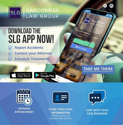 My Law Firm Mobile App, Sasooness Law Group, Accident Assist